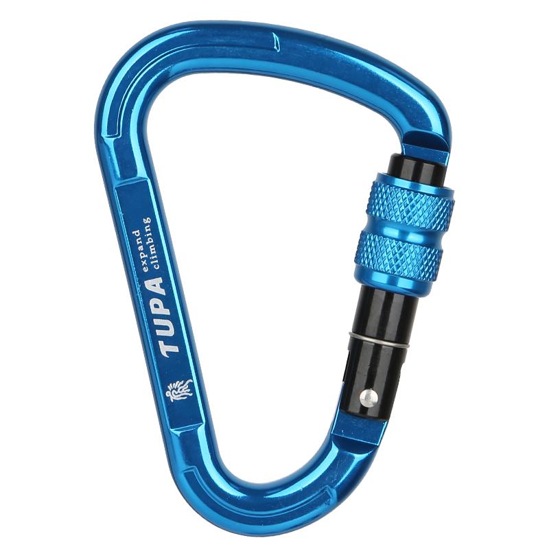 拓攀梨D型主锁攀岩锁登山扣承重安全扣户外登山快挂攀登瑜伽装备