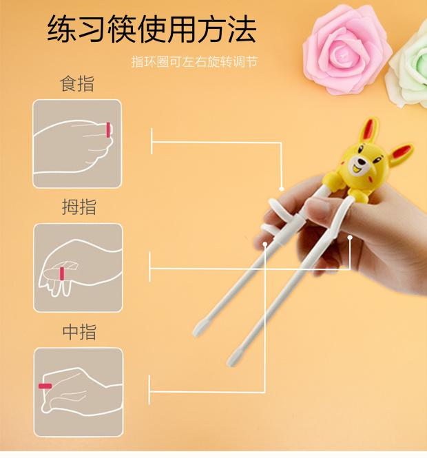 儿童学习筷训练筷宝宝练习筷子不锈钢勺子叉子套餐儿童餐具辅食