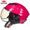 台湾瑞狮头盔男女士夏季电动摩托车半覆式复古半盔轻便安全帽四季