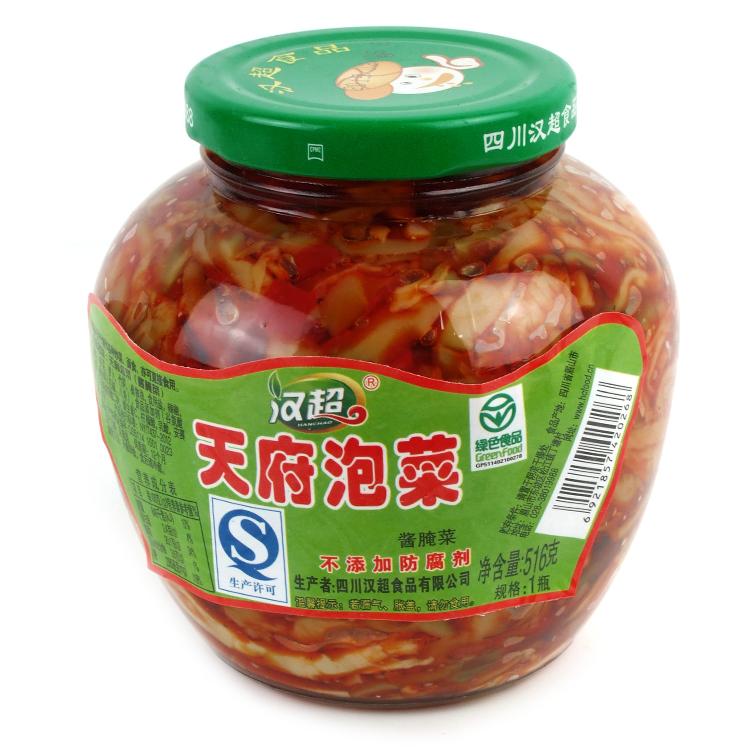 【12瓶包邮】汉超天府泡菜516g四川泡菜榨菜酱腌菜酱菜下饭菜