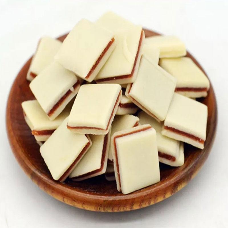 美味零食好吃不腻内蒙古特产 500g 可汗苏力迪手工奶饼山楂夹心奶酪