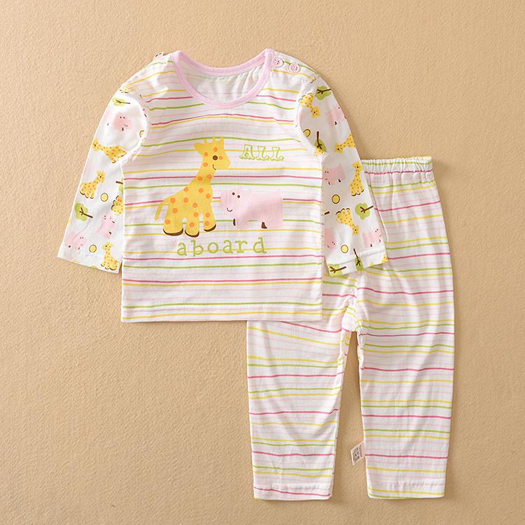 夏季婴尚婴儿衣服再生纤维薄内衣套装新生宝宝空调衣服儿童睡衣服
