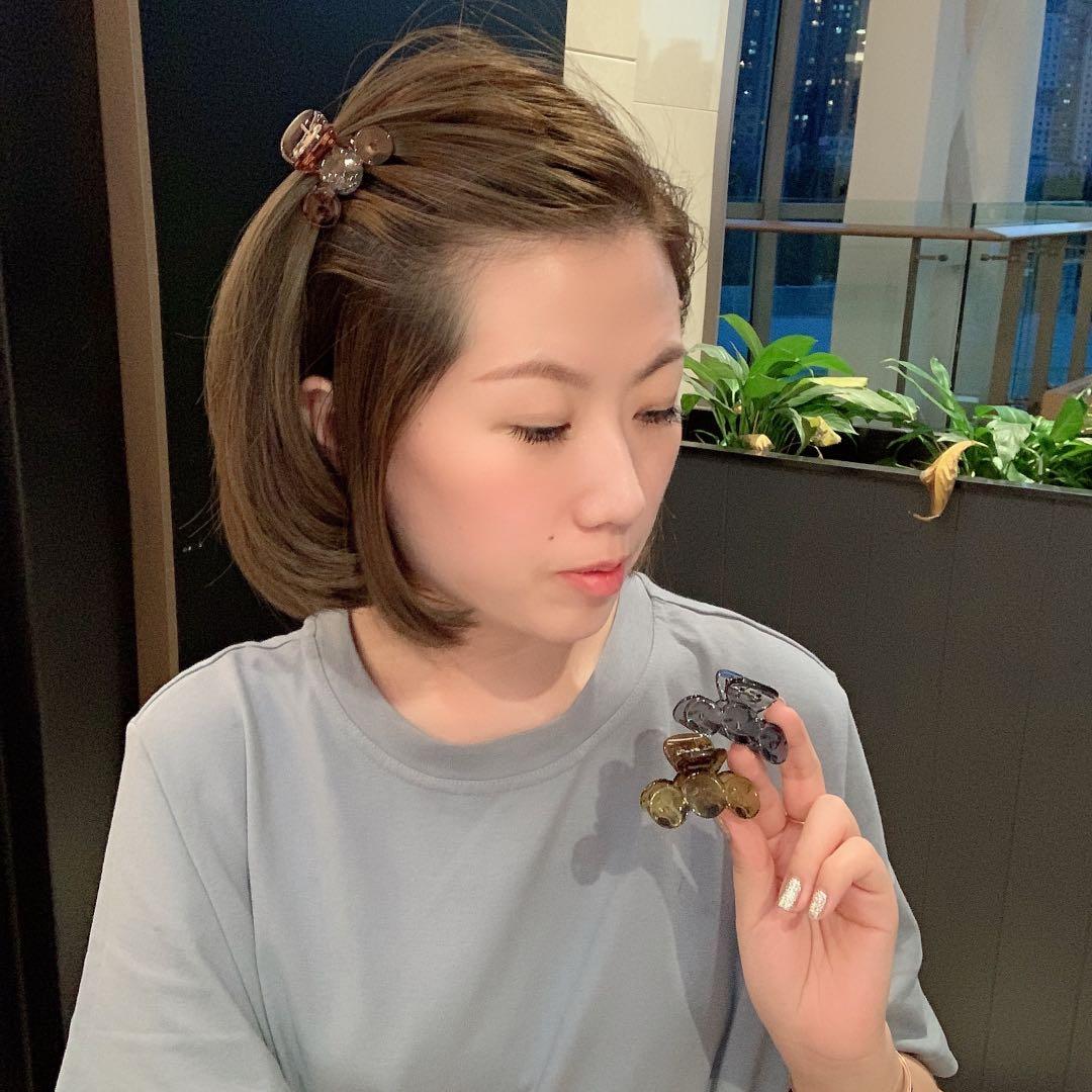 韩国东大门同款透明彩色简约刘海抓ins少女气质发夹头抓百搭发饰