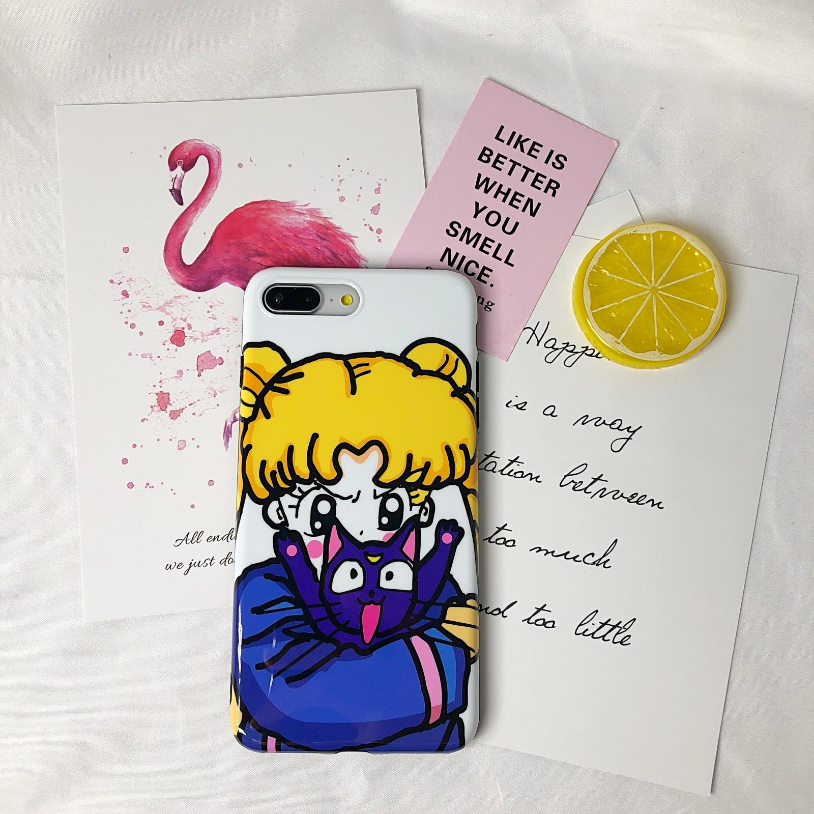 猪多壳美少女战士水冰月手机壳苹果Xiphone7卡通6splus/8软壳