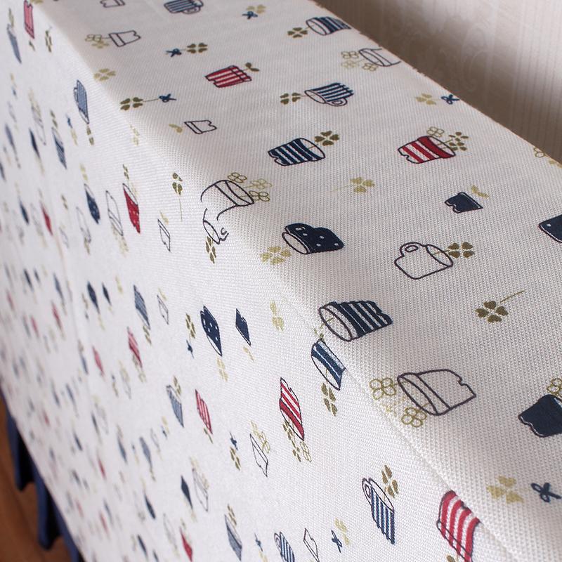 暖气片罩布艺暖气片防尘罩装饰取暖器罩子白色小清新成品全包定制