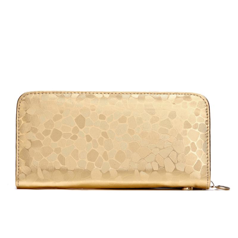 斜跨手包钱包女长款女士钱包韩版拉链手拿包新款石纹女式卡包皮夹