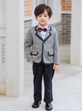 幼儿园园服春秋冬季儿童套装小学生英伦风西装韩版校服班服三件套