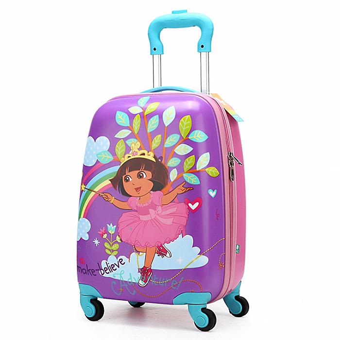 拉杆箱 草莓女孩18寸儿童行李箱旅行箱包男女学生减负拉杆书包