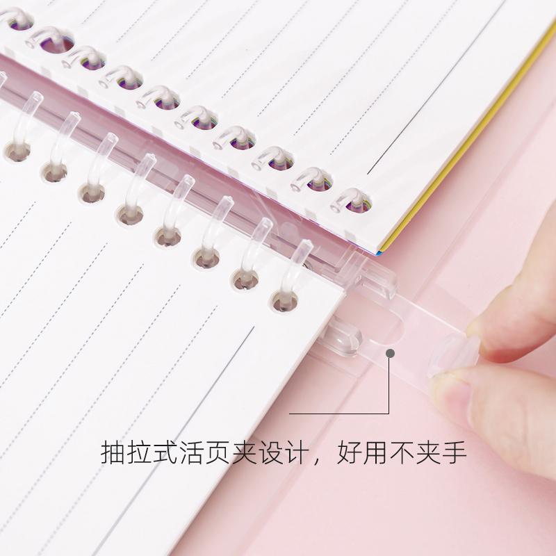a5/b5/a4活页本可拆卸活页本外壳夹笔记本本子简约文艺线圈本文具