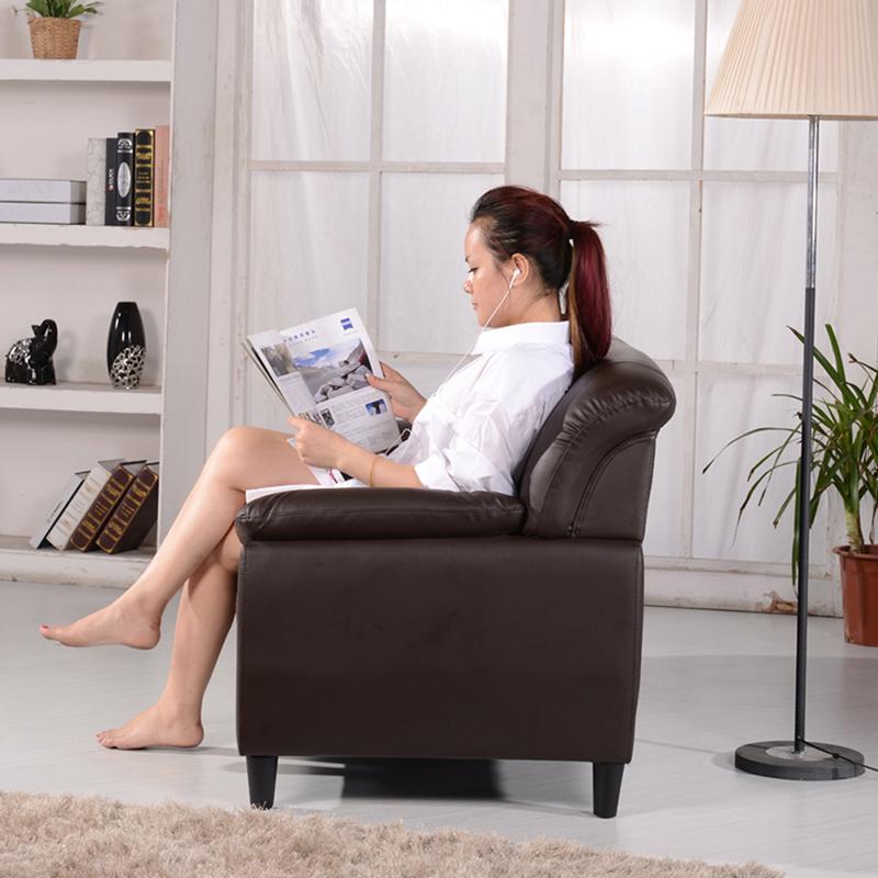 北欧真皮沙发小户型三人头层牛皮现代简约客厅整装办公双人皮沙发