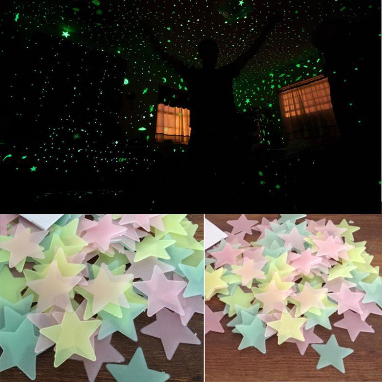小王子電影塑料立體夜光貼夜光星星貼片熒光牆貼宿舍兒童房裝飾