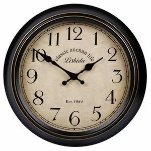 力时达美式复古静音挂钟客厅简欧创意欧式挂表北欧艺术装饰时钟表