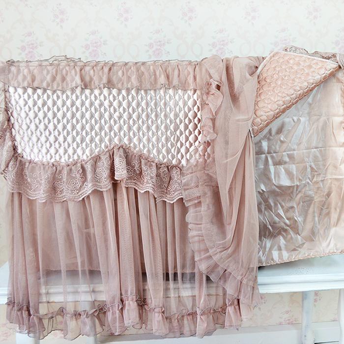高档液晶电视罩欧式蕾丝刺绣电视套布艺防尘罩挂式台式盖巾