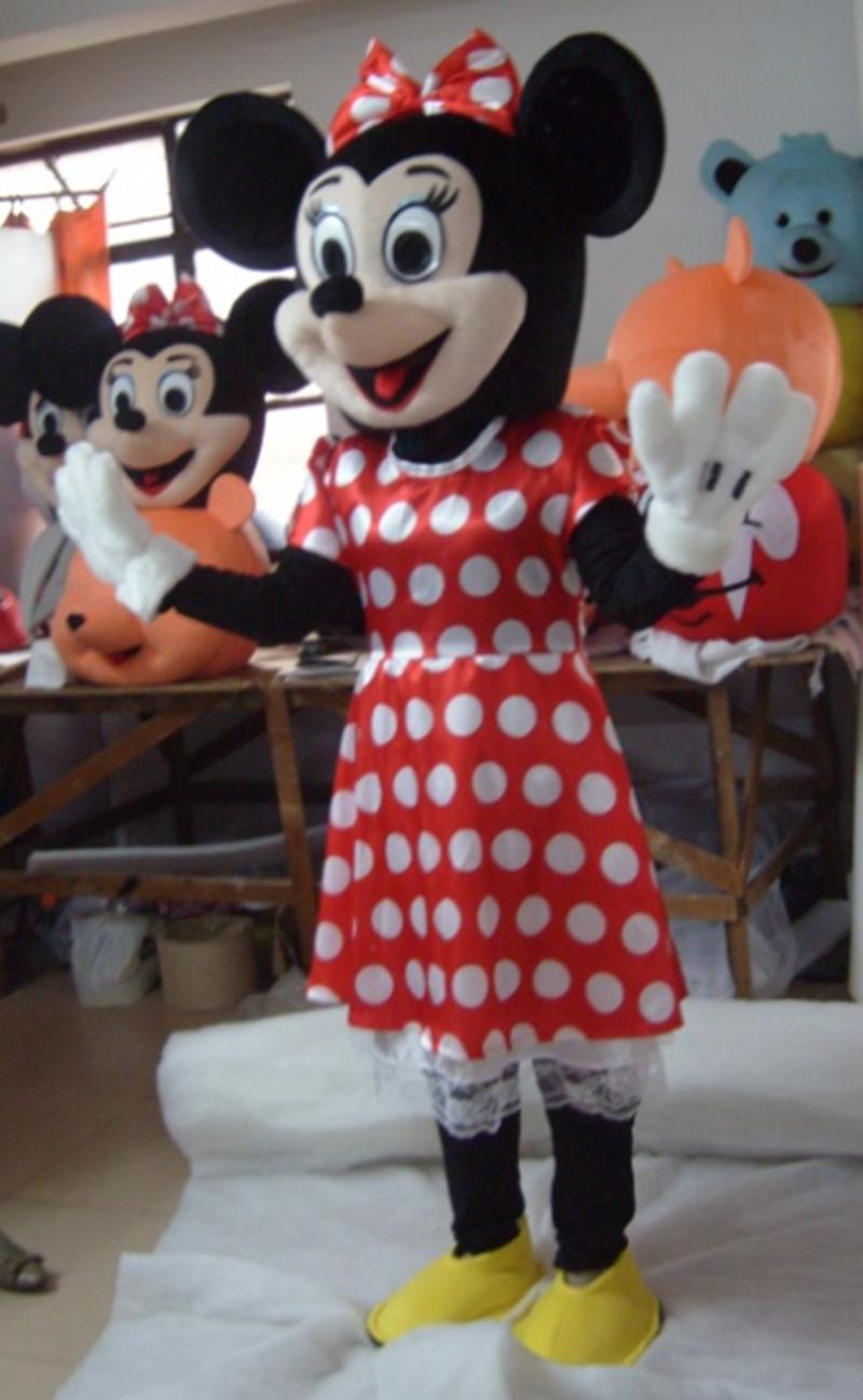 米奇米妮卡通人偶服装夏季cosplay道具米老鼠动漫人物演出玩偶服