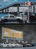 Extension of 1/64 miniatures Italian Japanese toy scene Japanese street double parking model toys gift