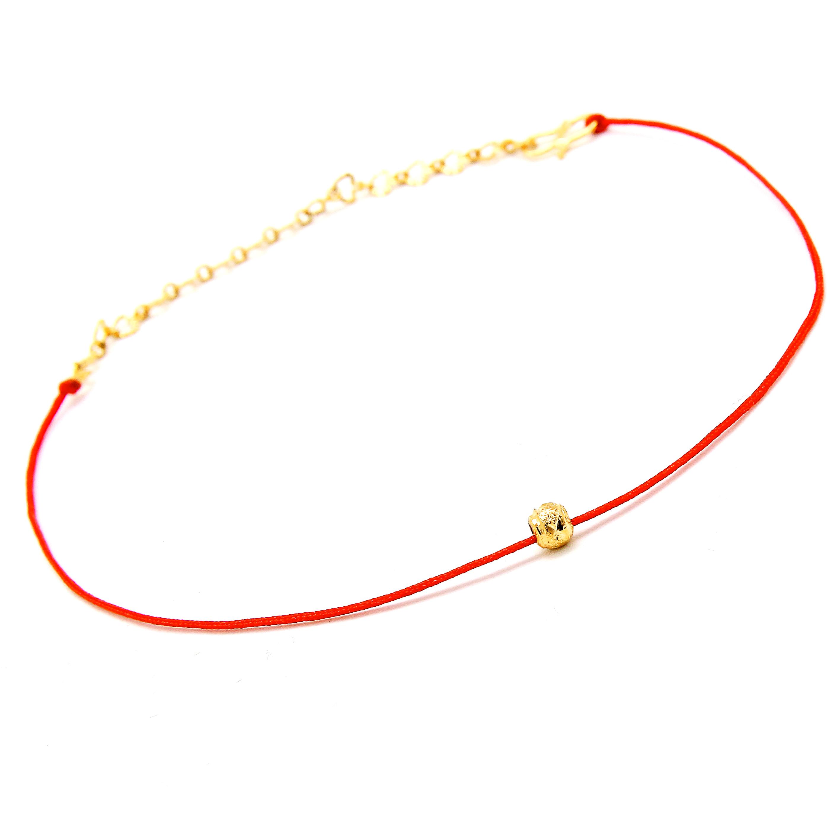 中国民族复古脚链女情侣满天星金珠路路通本命年红绳转运开运饰品