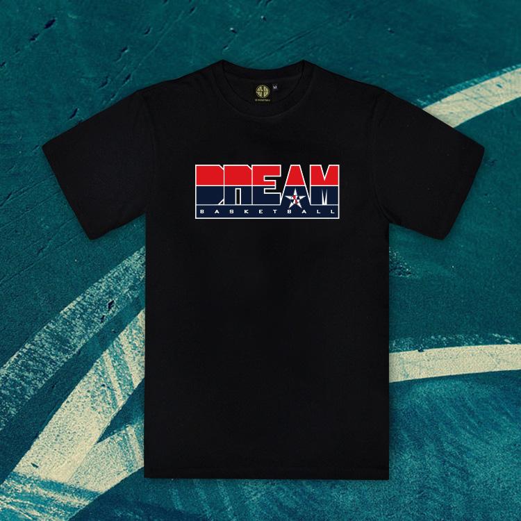 SD籃球tee夢之隊男籃美國隊服定製圓領純棉短袖運動T恤詹姆斯DIY