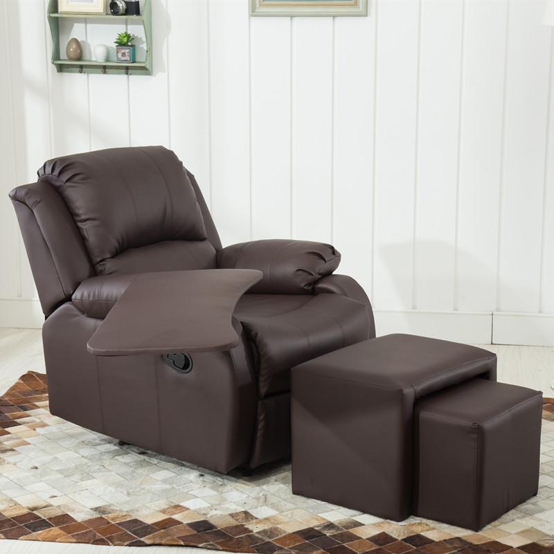 祥润美甲店沙发单人可躺布艺美睫午休椅足浴做脚美指甲电动皮沙发