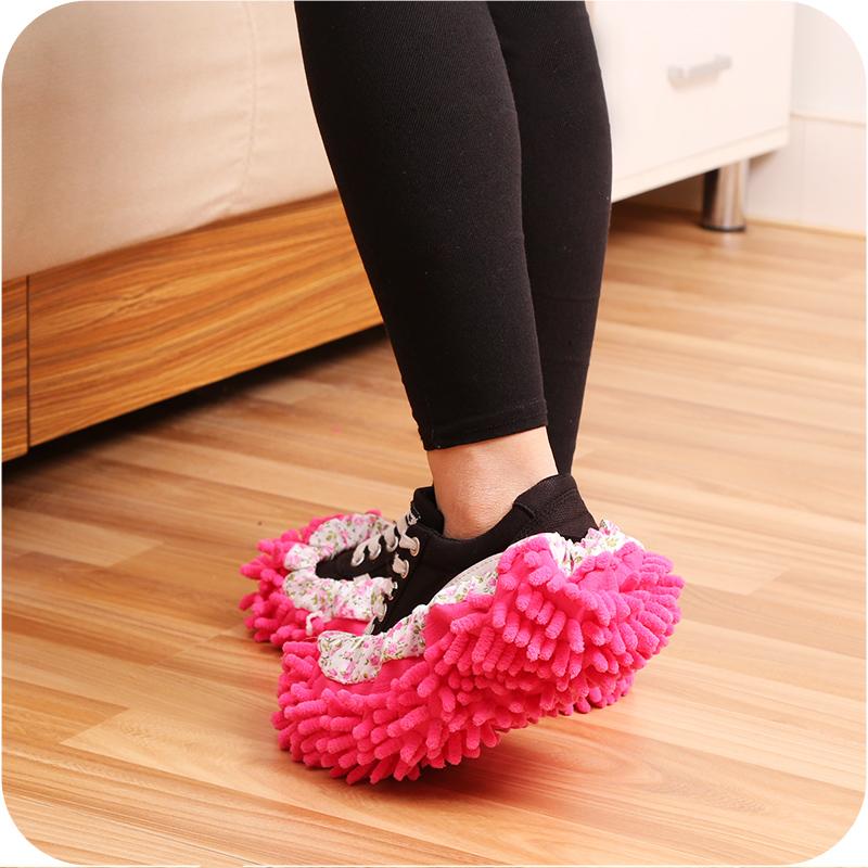 雪尼尔可拆洗男女擦地拖鞋擦地板鞋子拖地拖布拖把套清洁鞋套