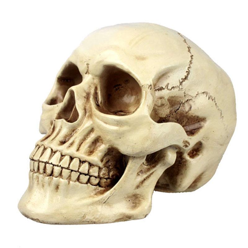 爱新奇 万圣节装饰创意恐怖搞怪恶搞整人整蛊道具树脂骷髅头摆件