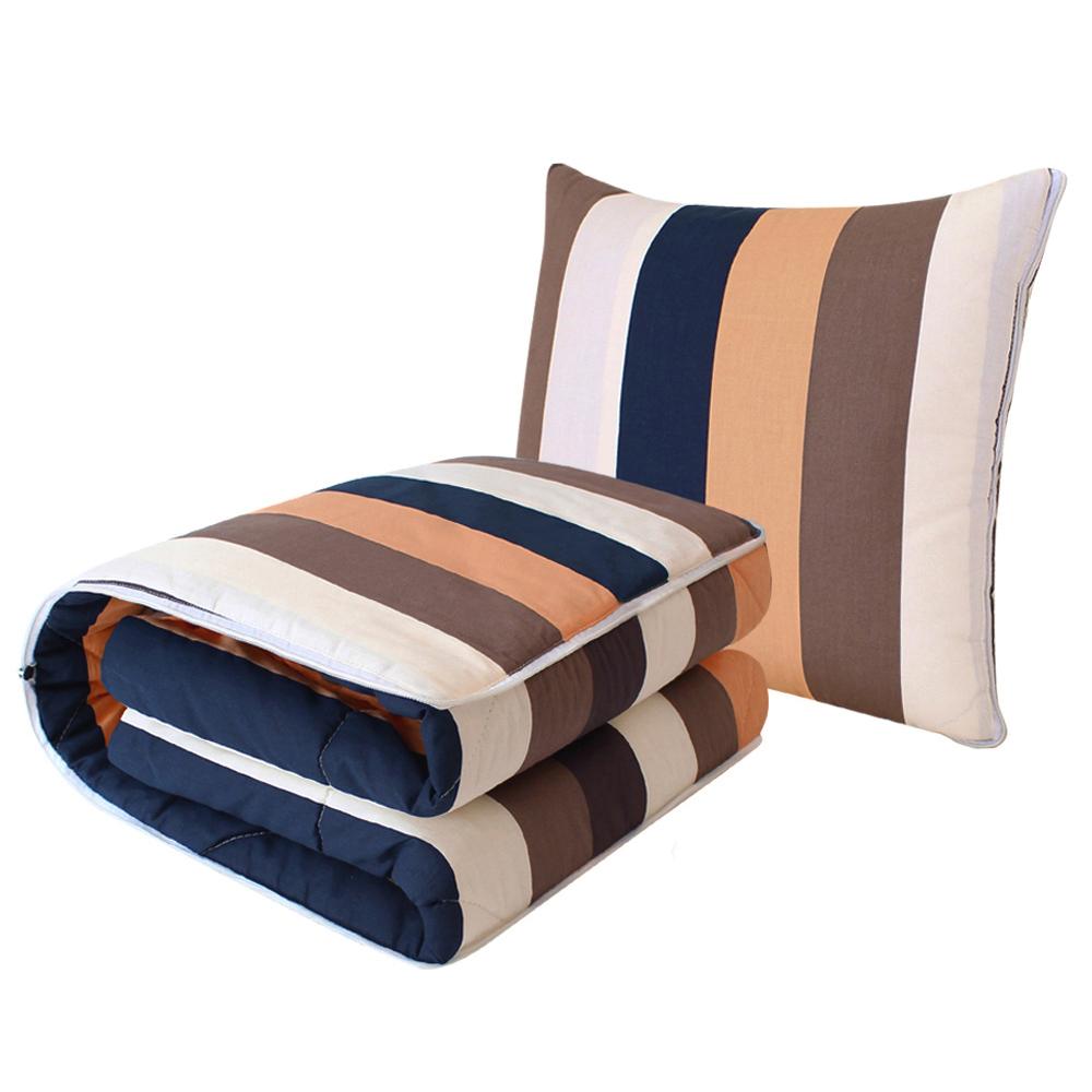 飞天全棉抱枕被子两用办公室靠垫靠枕头折叠午睡毯汽车空调被
