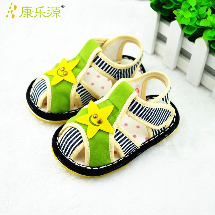 【天天特价】儿童手工布鞋宝宝千层底凉鞋纯棉男童婴幼软底防滑