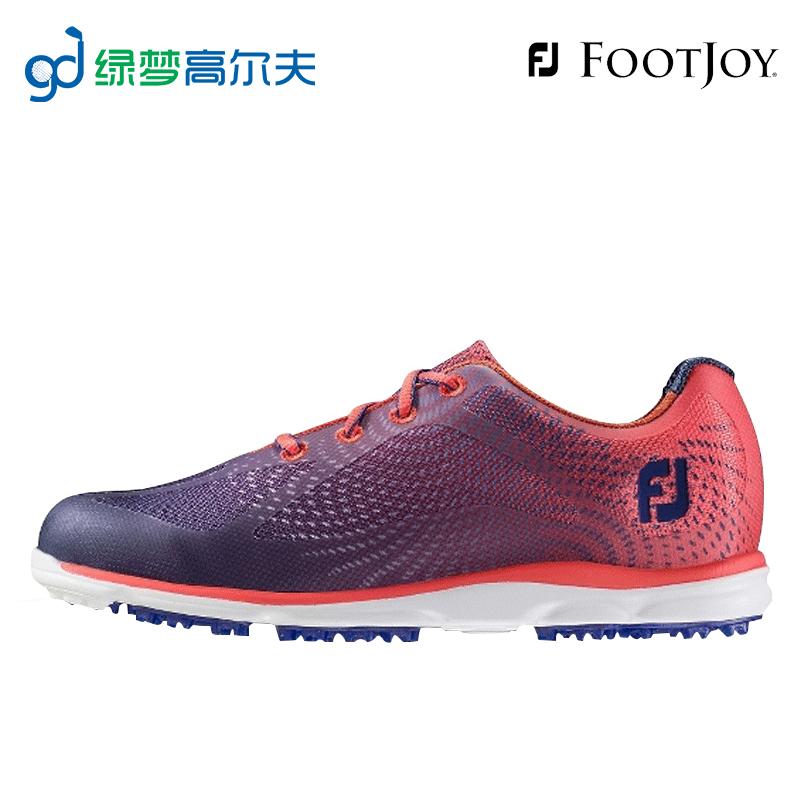 Footjoy球鞋高爾夫 golf女士休閒舒適透氣FJ無釘旋扭鞋子綠夢正品
