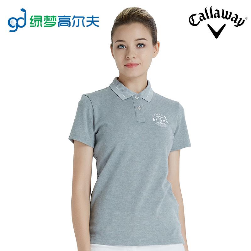 callaway卡拉威高尔夫衣服女士短袖T恤运动休闲夏polo衫GOLF服装