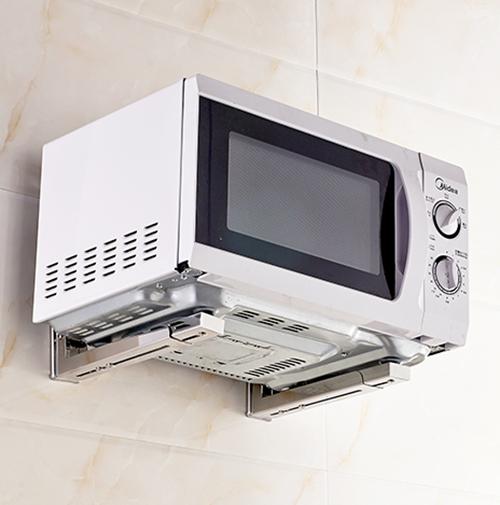 不锈钢微波炉支架厨房置物架壁挂挂件收纳架储物架烤箱架用品用具