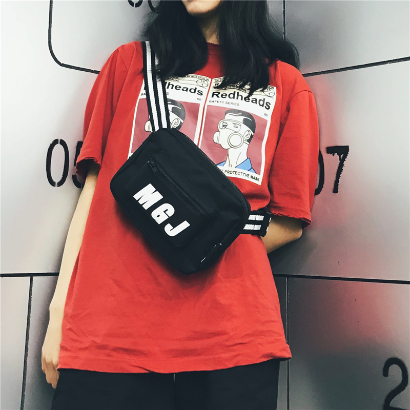 韩版港风百搭潮户外跑步时尚学生小斜挎包胸包腰包女情侣款单肩包