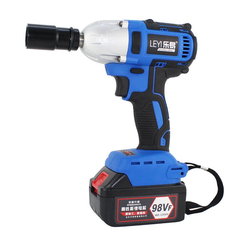 乐易锂电充电扳手冲击脚手架子工木工用分体无刷电动扳手套筒风炮