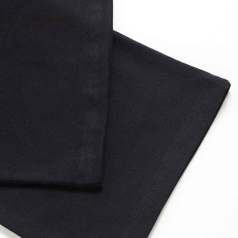 夏娃的诱惑针织长裤系列 棉质直筒舒适女士休闲裤家居裤长裤
