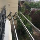 沛晴304阳台外伸缩晾衣杆室外户外推拉折叠晒衣架凉衣架32不锈钢 - 2