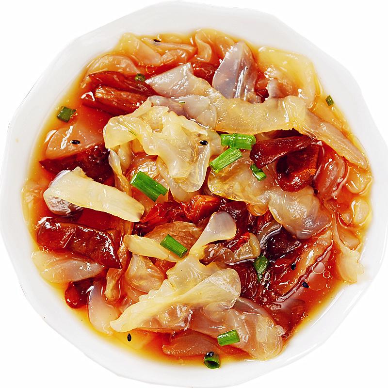 宁波产 壹虎大叔即食海蜇头 海蜇丝海蜇皮宁波海鲜 凉菜冷菜 220g