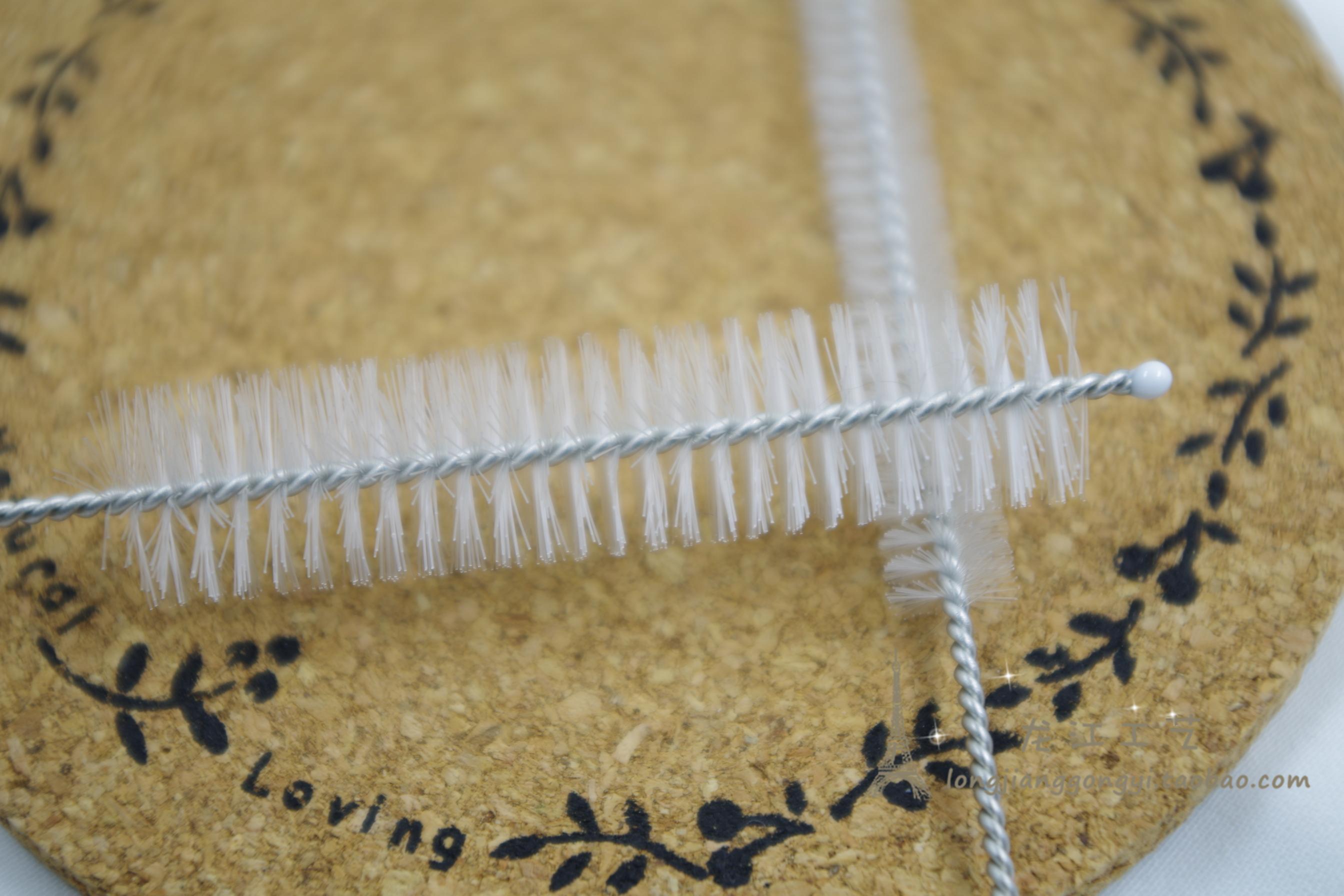 吸管刷 不锈钢吸管刷 导气管 毛刷 螺旋软毛 可弯折(7mm刷毛)