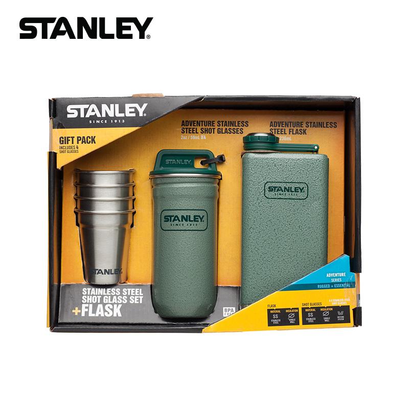 STANLEY新款史丹利戶外不鏽鋼酒壺酒杯酒具禮盒套裝8盎司01883