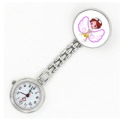 护士表挂表夹子海豚女款胸表卡通可爱时尚学院考试夜光复古怀表