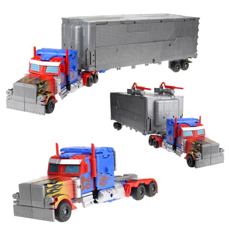 变形玩具金刚5 U级超大号车厢擎天汽车机器人手动拼装模型套装