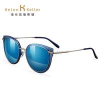 海伦凯勒新款女士偏光彩色墨镜潮金属眼睛框沙滩镜小脸品牌太阳镜 (¥469(券后))