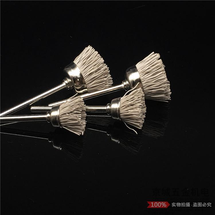 杜邦丝笔刷迷你刷打磨花头磨料丝尼龙刷木雕根雕凹槽抛光磨头包邮