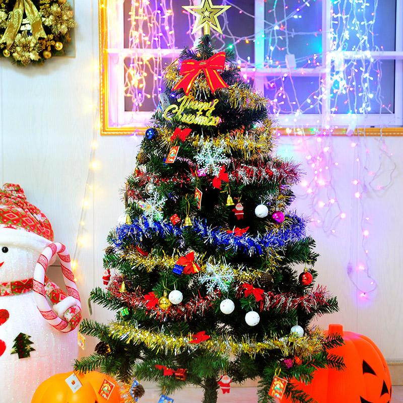 民胤圣诞用品1.5米加密圣诞树套装 圣诞节豪华套餐60cm圣诞树彩灯