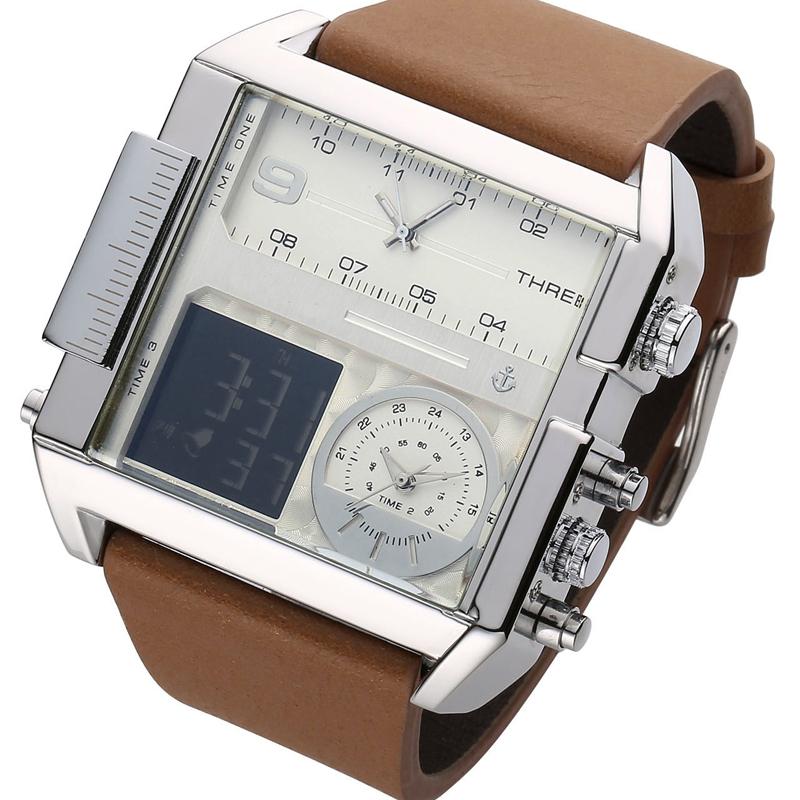 韩国韩版方形手表男士女士学生运动潮流超大表盘时尚超酷日历手表
