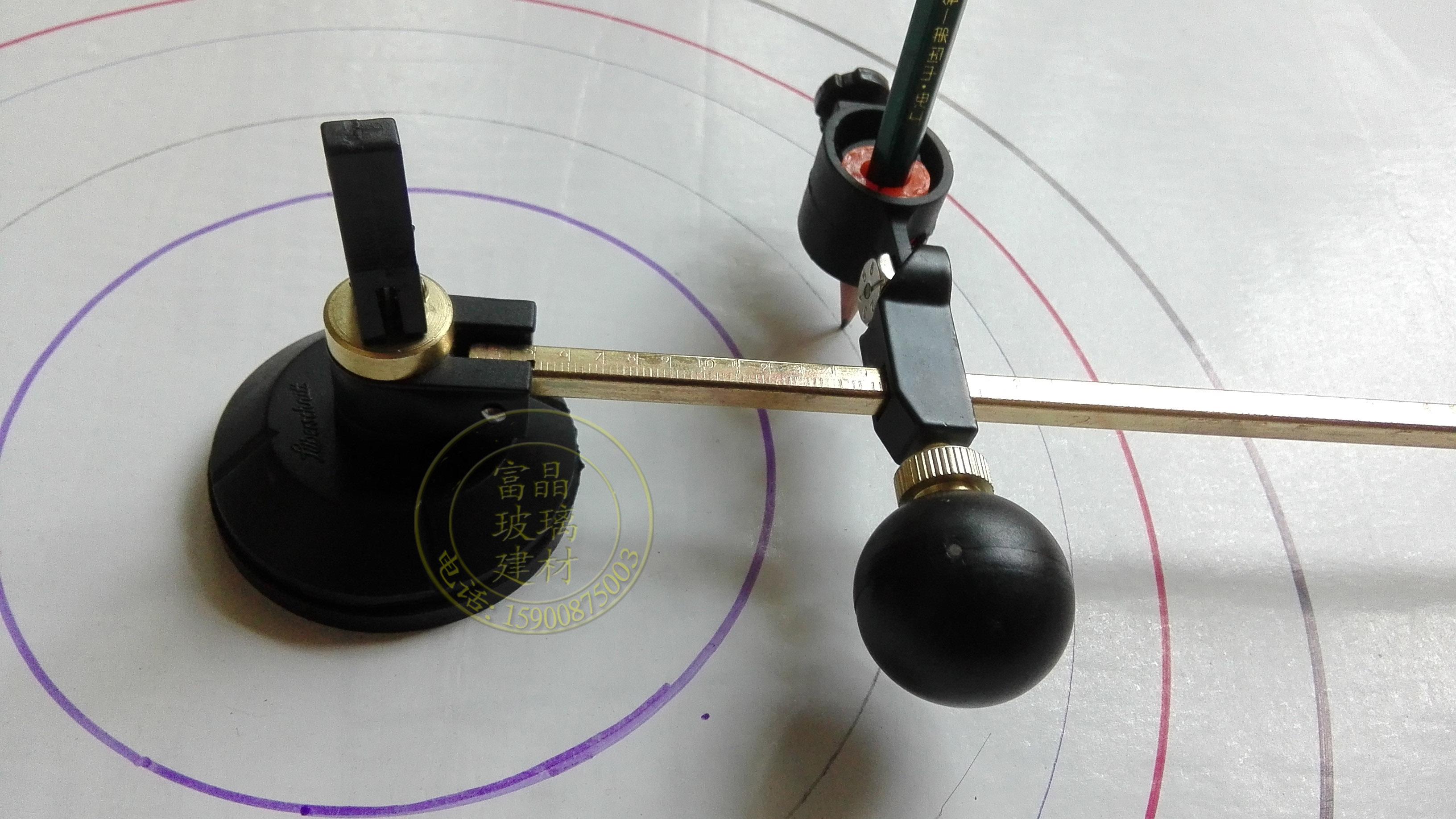包邮 特大圆规夹铅笔 白板粉笔 记号水笔 夹笔器画圆工具 画圆器