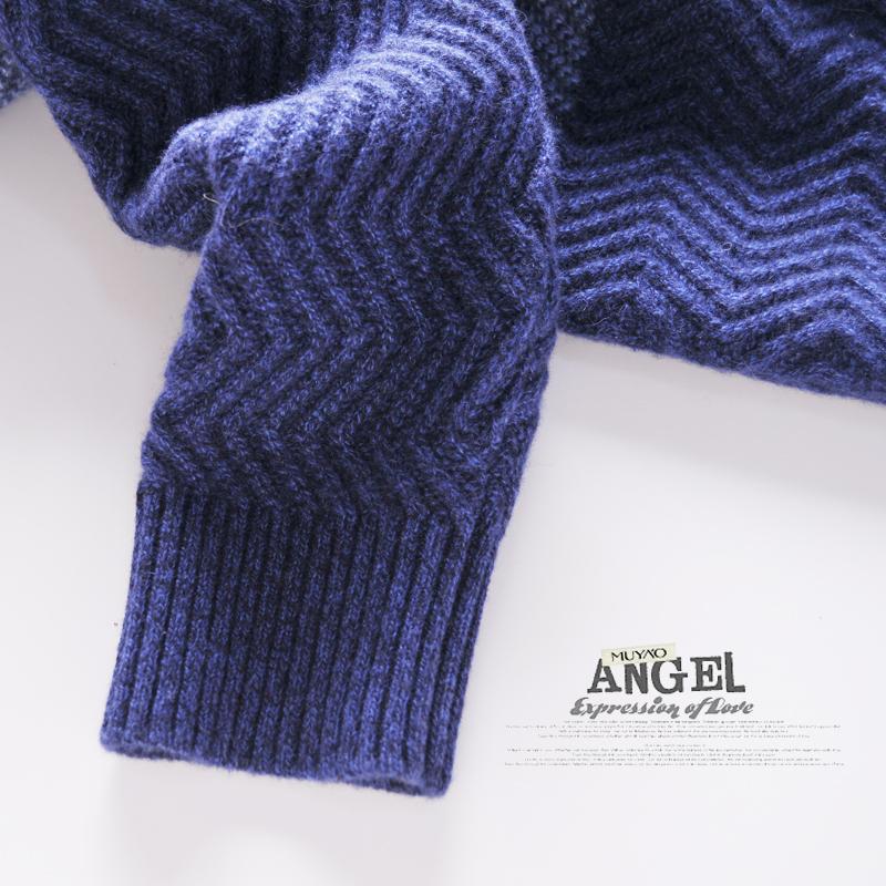 纯羊绒衫男式圆领长袖拼色套头加厚宽松韩版针织毛衣冬季包邮