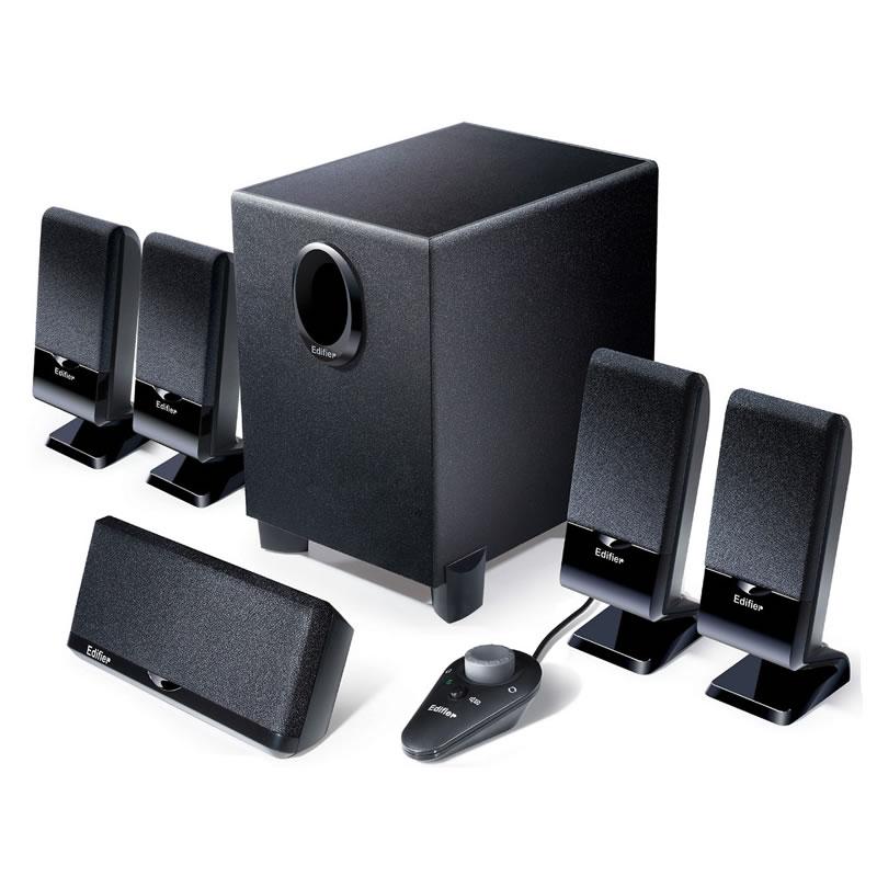 家庭影院组合有沾多媒体落地影响 DTS 环绕重低音炮音响带线控 5.1 台式机家用电脑音箱 R151T07 漫步者 Edifier