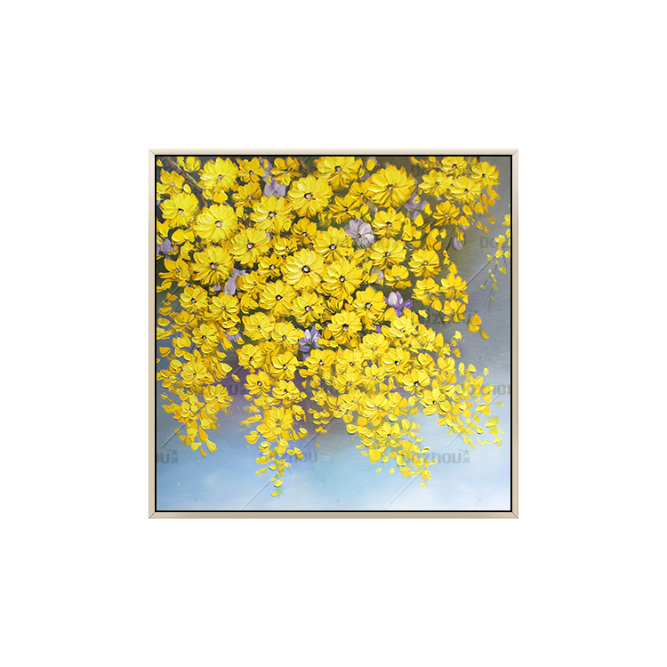 手繪原創油畫花卉畫現代簡約北歐客廳玄關裝飾畫餐廳走廊掛畫