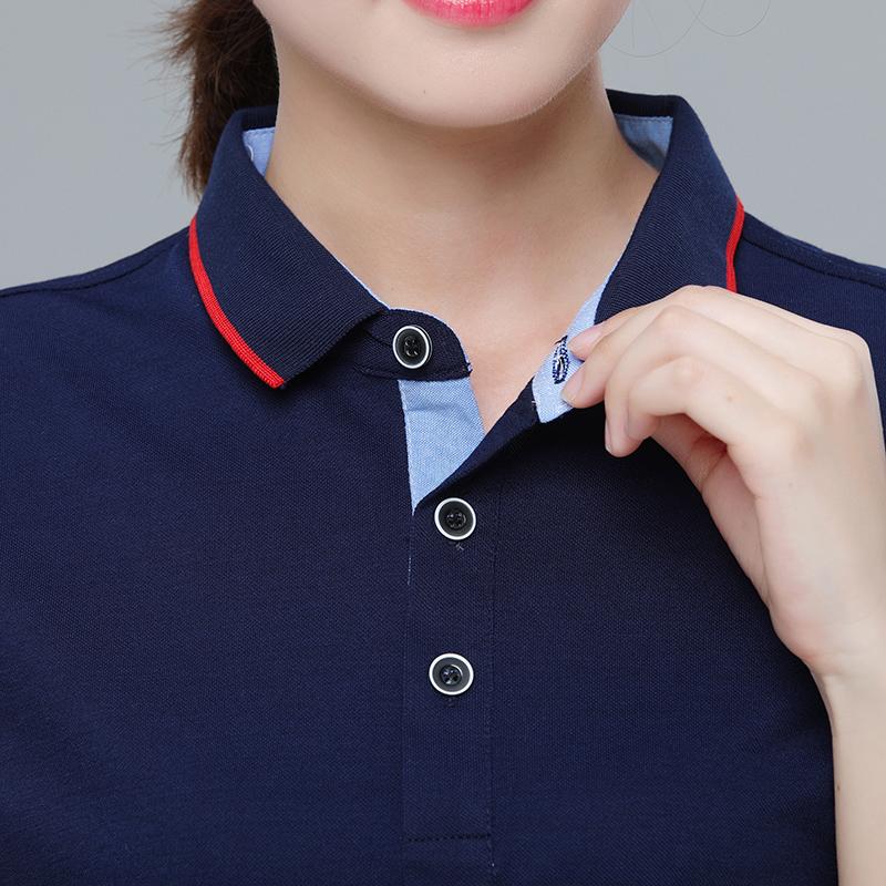 夏天工装厂服定做 企业翻领POLO衫工衣刺绣印字logo工作服短袖T恤