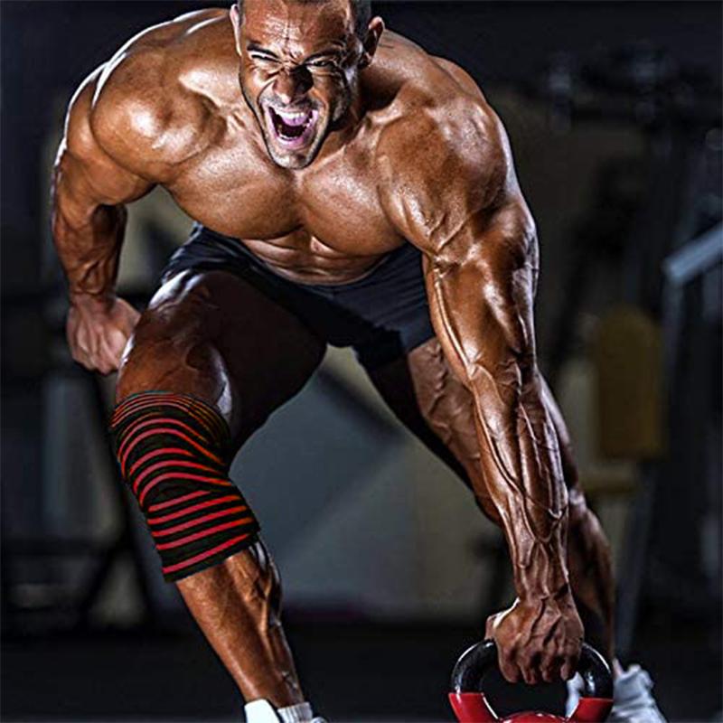 深蹲护膝男力量举弹性绷带