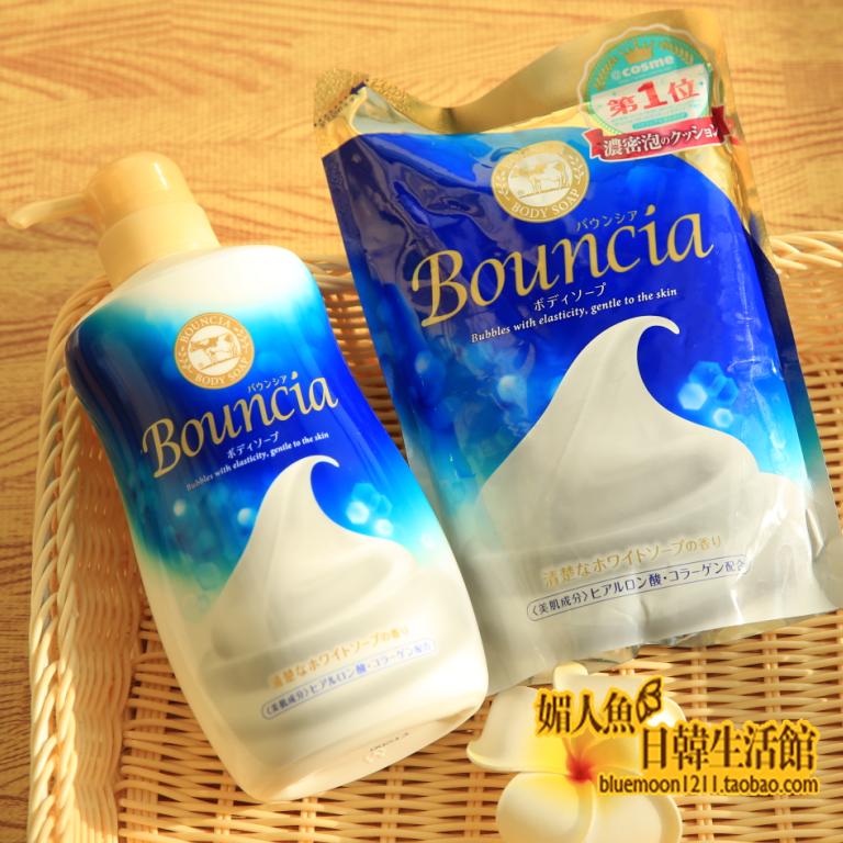 日本COW牛牌牛乳石鹼Bouncia花香沐浴露綿密泡沫420ML/550ML