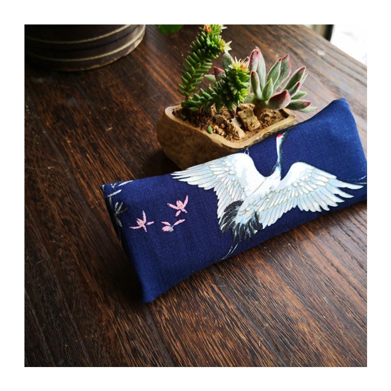 年新品仙鹤鼠标手枕垫贴香包荞麦皮决明子国风键盘托护腕枕垫 2019